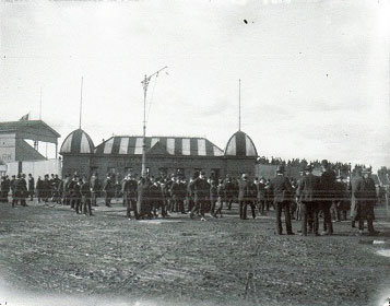 Outside Victoria Park - Collingwood v South Melbourne circa 1890-1920